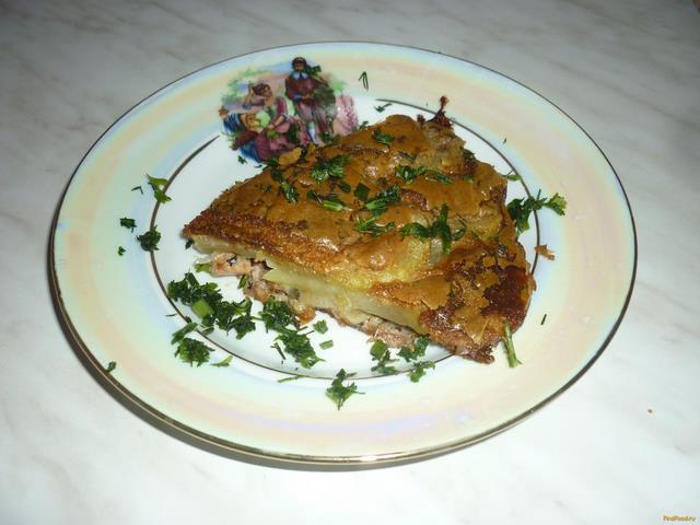 Рецепт Рыбный пирог из сайры рецепт с фото