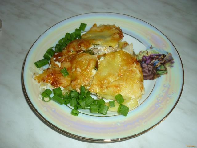 Рецепт Запеченная рыба с овощами в духовке рецепт с фото