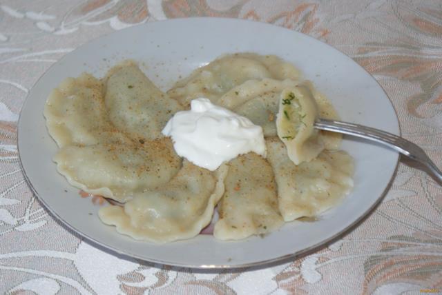 Рецепт Вареники с начинкой из картофеля и зелени рецепт с фото