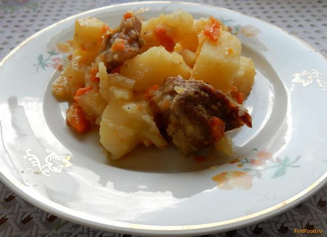 Рецепт Картофель со свининой в духовке рецепт с фото