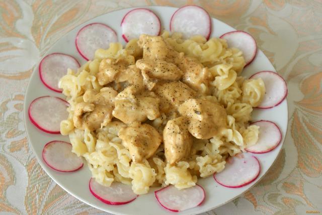 Рецепт Куриная грудка в сырном соусе рецепт с фото
