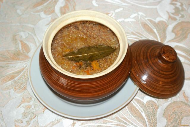 Рецепт Куриная грудка с пшеничной кашей в горшочках рецепт с фото