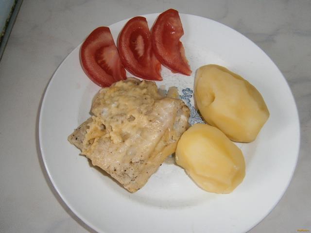 Рецепт Треска запеченная с пармезаном рецепт с фото