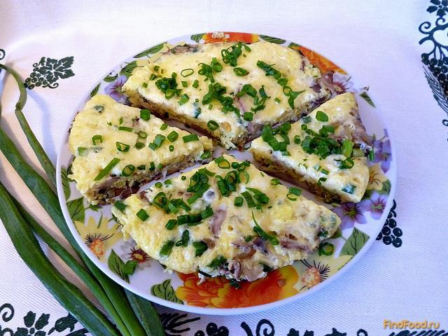 Рецепт Фриттата с грибами и луком рецепт с фото
