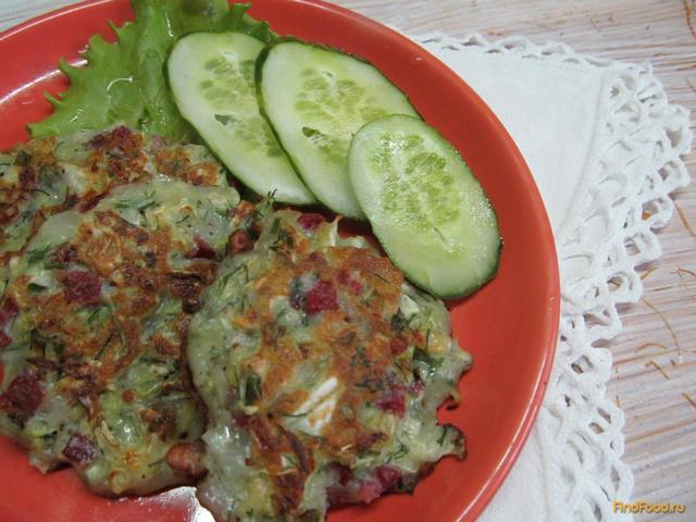 Рецепт Котлеты с капустой кабачком и салями рецепт с фото