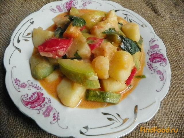 Рецепт Рагу с кабачком и помидорами рецепт с фото