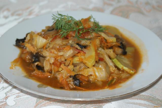 Рецепт Овощное рагу с шампиньонами рецепт с фото