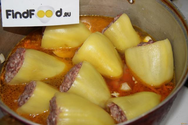 Фаршированный перец с овощами рецепт с фото 11-го шага