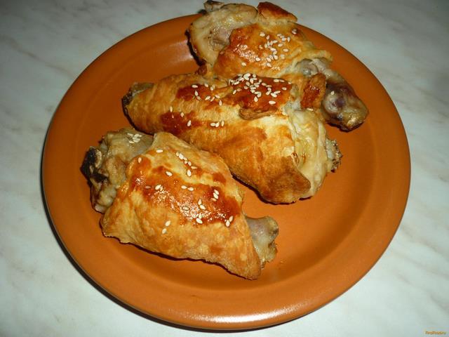 Рецепт Куриные ножки в слоеном тесте рецепт с фото
