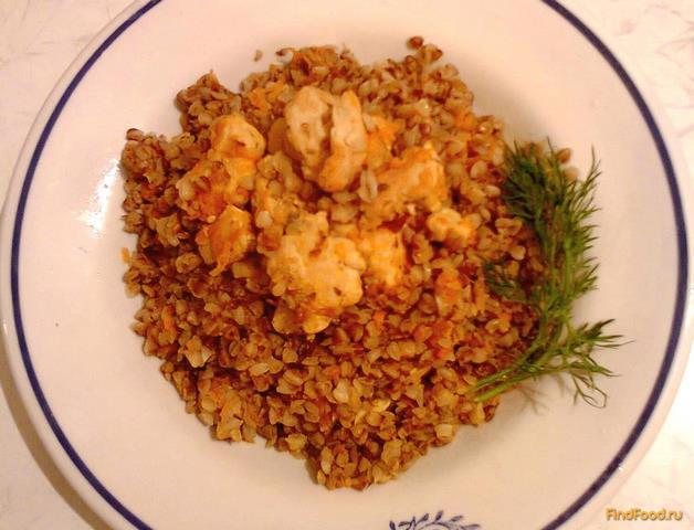 Рецепт Гречка с курицей и морковью рецепт с фото