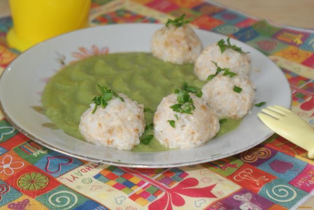 Рецепт Тефтели на пару с овощным пюре рецепт с фото