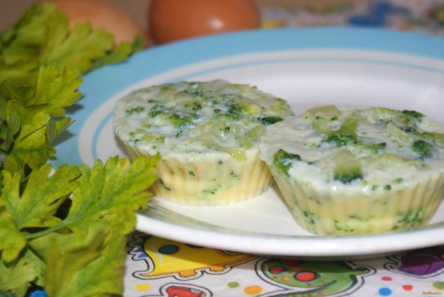 Рецепт Паровой омлет с брокколи рецепт с фото