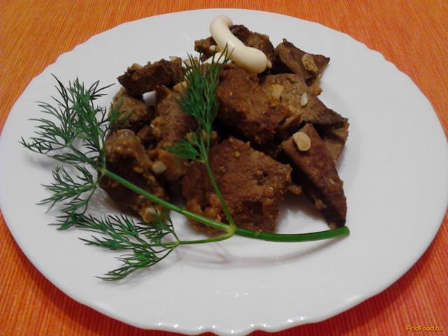 Рецепт Свиная печень в чесночном маринаде рецепт с фото