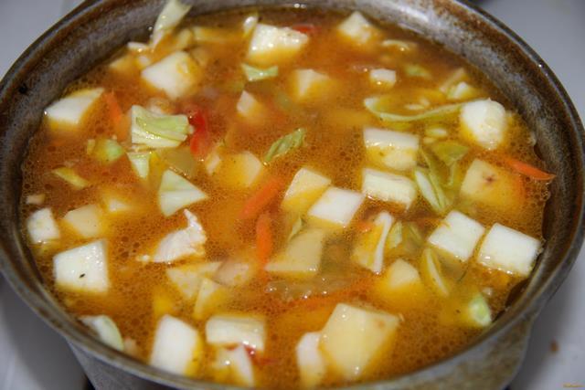 Рецепт овощного рагу с кабачками и картошкой и курицей