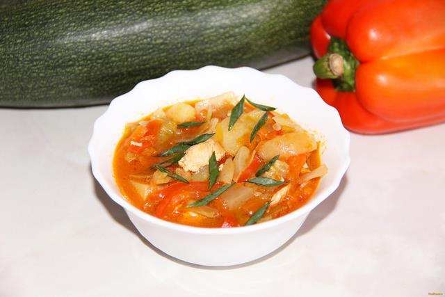 Рецепт Овощное рагу с курицей рецепт с фото