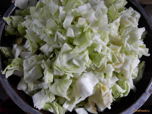 Капуста в сметане на сковороде рецепт с фото