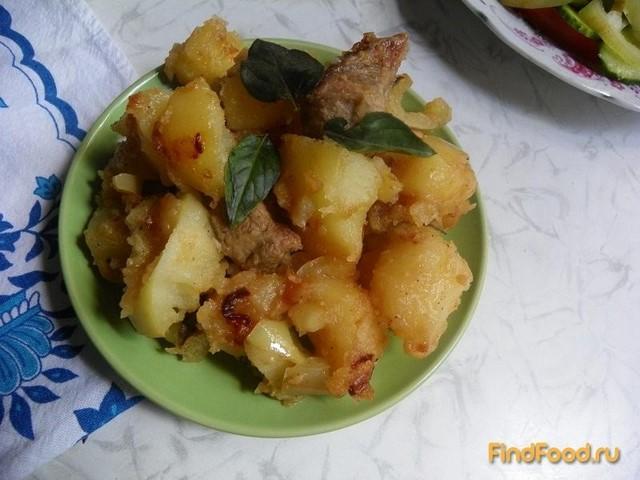 Рецепт Картофель с болгарским перцем мясом и базиликом рецепт с фото