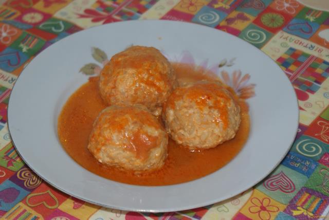 Рецепт Куриные тефтели с рисом рецепт с фото