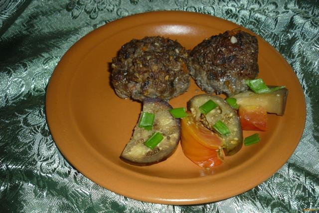 Рецепт Котлеты из баклажанов с мясным фаршем рецепт с фото