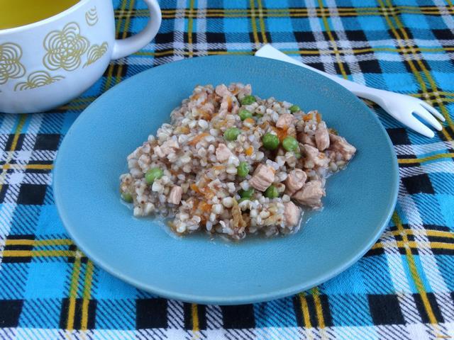 Рецепт Гречка с куриным филе и горошком рецепт с фото