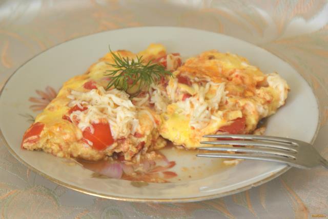 Рецепт Болтунья с помидорами и сыром рецепт с фото