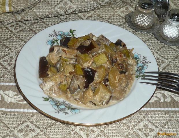 Рецепт Рагу с баклажанами и кабачками рецепт с фото