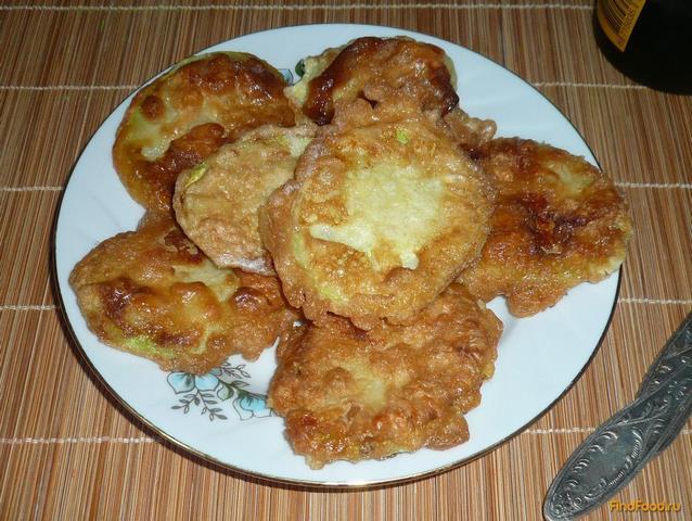 Рецепт Кабачки жареные в кляре рецепт с фото