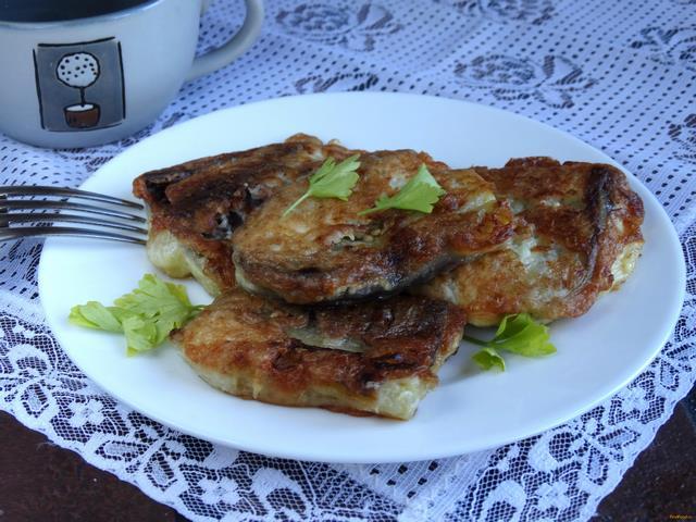 Рецепт Баклажаны в сырном кляре рецепт с фото