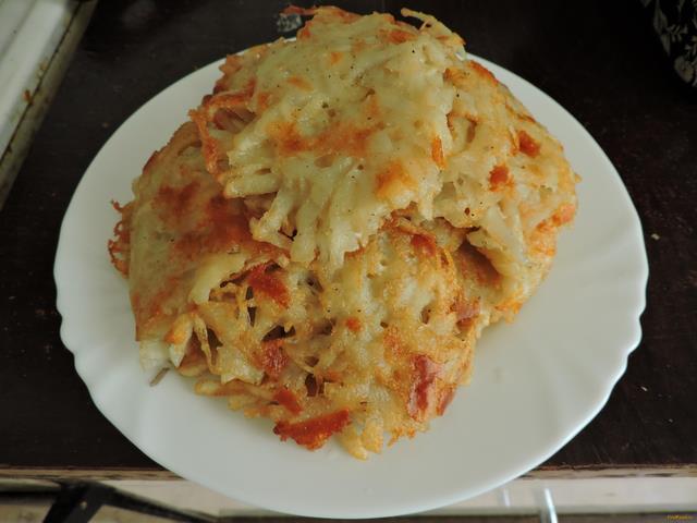 Рецепт Картофельные драники с сыром без муки рецепт с фото