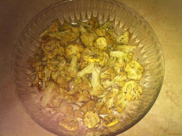 Рецепт Цветная капуста и кабачки запеченные с розмарином рецепт с фото
