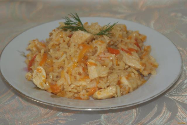 Рецепт Плов из курицы с помидорами рецепт с фото