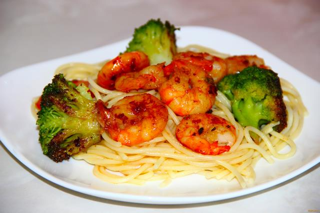 Рецепт Паста с креветками и брокколи рецепт с фото