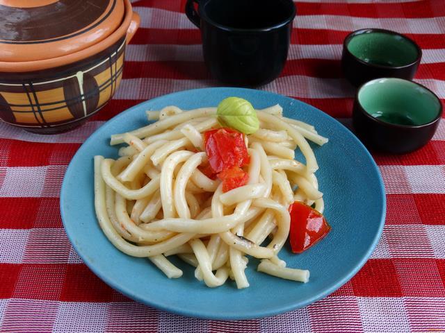 Рецепт Паста с помидорами и болгарским перцем рецепт с фото