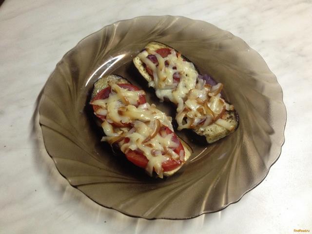 Рецепт Запеченные баклажаны с колбасным сыром рецепт с фото
