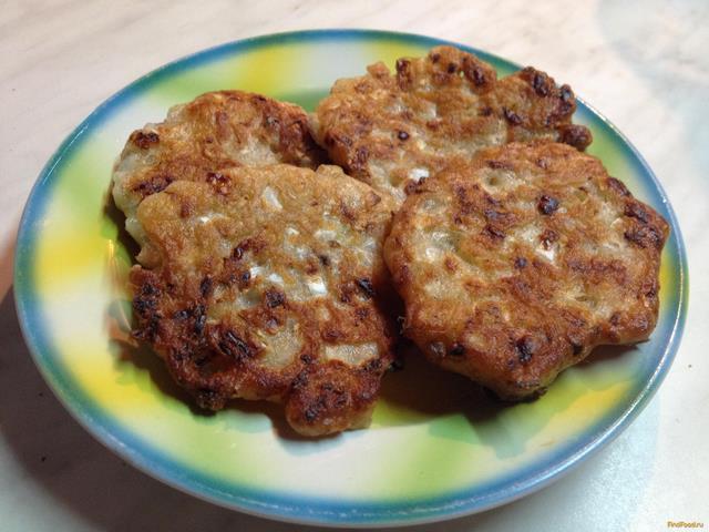Рецепт Капустные оладушки с ржаной мукой рецепт с фото