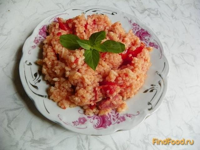 Рецепт Рис с колбасой рецепт с фото