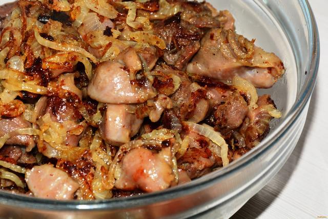 Рецепт Жареные куриные желудочки рецепт с фото