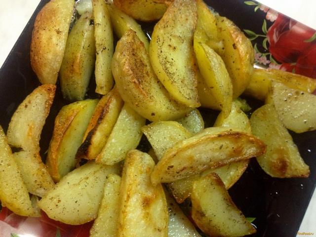 Рецепт Запеченные картофельные дольки рецепт с фото