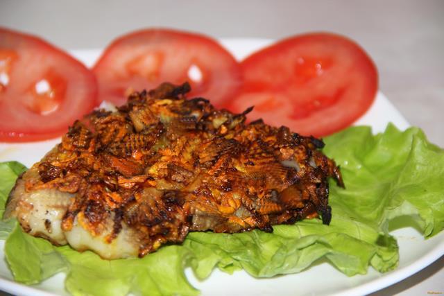 Рецепт Морской язык запеченный под овощами рецепт с фото