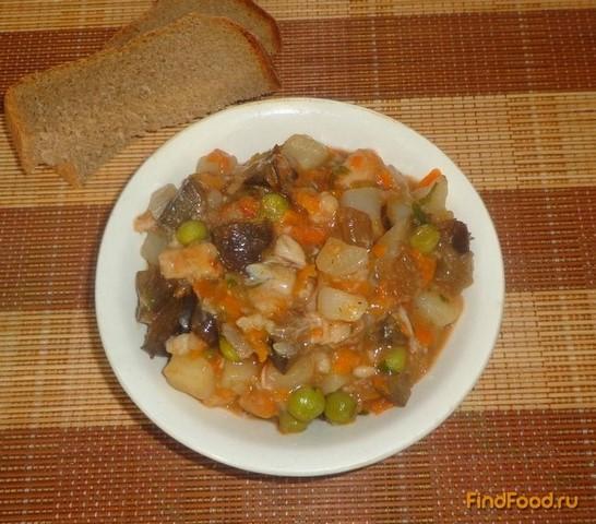 Рецепт Рагу из рыбы и баклажанов рецепт с фото