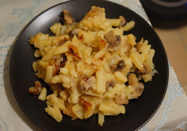 Жареная картошка с шампиньонами рецепт пошаговый с