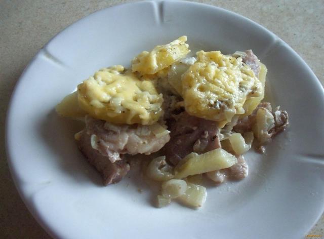 Рецепт Картофельная запеканка с мясом рецепт с фото