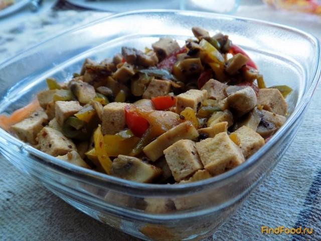 салат с тофу копченый рецепт