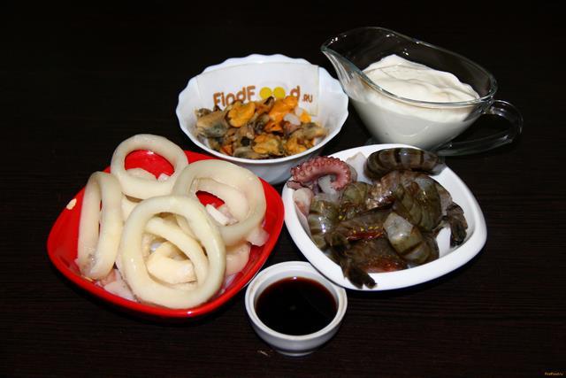 Рецепт из морских гадов пошагово