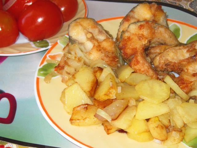 Запеченный пеленгас с картошкой в духовке рецепт пошагово