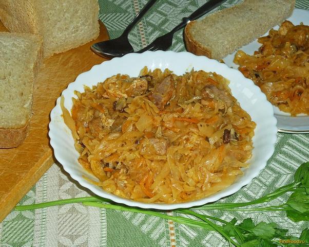 Тушёная капуста в утятнице рецепт с пошагово