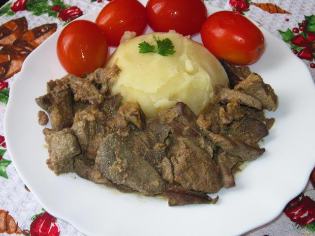 Рецепт приготовления печени свиной в сметане
