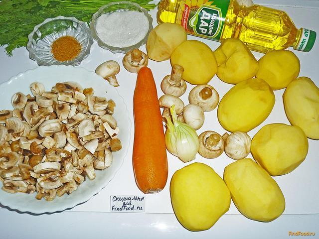 рецепты приготовления рецепты грибы с картошкой