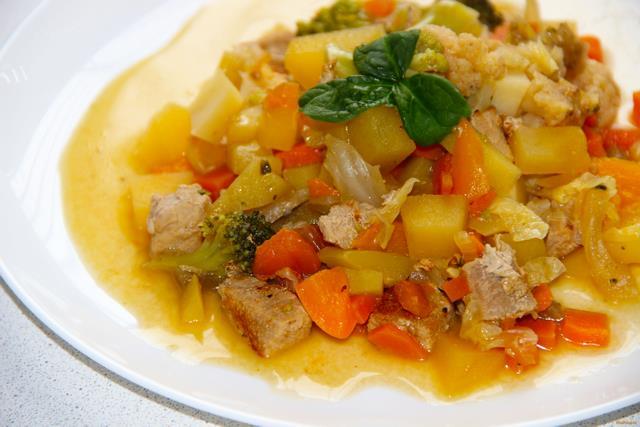 Рагу овощное с мясом пошаговый рецепт с