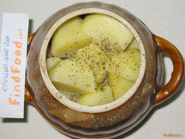 Мясо с грибами в горшочках рецепт с фото 8-го шага